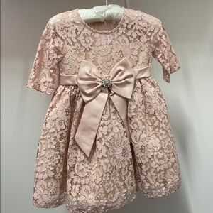 Rare Editions toddler 2T lace pink dress